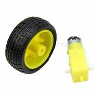 arduino wheel - 1pc Smart Car Robot Plastic Tire Wheel with DC Biaxial Gear Motor Arduino