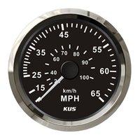 Wholesale Kus instrument mm marine pneumatic speedometer mph black white