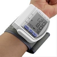 Wholesale 2015 New Health Care Portable Home Automatic Digital Wrist Cuff Blood Pressure Monitor Heart Beat Meter Lcd Display