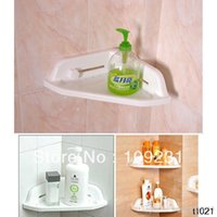 Wholesale New Powerful Corner Tub Shelf Bathroom Shower Bath Storage Kitchen Sucker IA304 W0 SUP5
