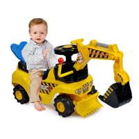 baby riding toys - Music Digger truck vogue diamond educational assembling plastic toy excavator Multifunctional Kids baby Outdoor Ride Toys christmas gift