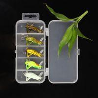 Wholesale 5Pcs g cm Artificial Fishing Lures Luminous Locust Grasshopper Insect Shape Hard Baits Set Pesca Tackle Box Y0093