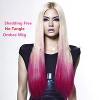 Cheap Top Quality Brazilian Virgin Silky Straight Ombre Full Lace Wig Human Hair Wig two tone and lace front wig for black women