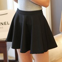 Wholesale 2015 Women High Waist Pleated Skirts Knitting New Fashion Candy Color Skirt
