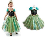 Cheap 2014 summer Frozen Girls Party Dresses Queen Elsa Anna Princess Dresses costumes Dresses Christmas Children Cosplay Dresses clothing zsl001