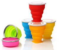 Wholesale Cute Cups Best Cups Folding Drinking Glasses Silicone Material Unique Design New Arrival for Sale EB DN15520