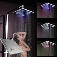 Cheap HIgh fashion 8 inches Brass LED Shower Lighting,Lighted Rain Shower Head,Overhead Shower 072626