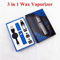 electronic cigarette oil - 3 in Wax Vaporizer E Cigarette Kit VPSV Pen for Dry Herb Herbal WAX Oil Electronic Cigarette E Cigarette ECig vs Ago g5 kit Via DHL