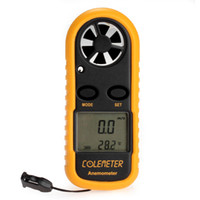 Wholesale Digital Backlight Airflow Wind Speed Gauge Meter Anemometer Thermometer Speed Measuring Instruments