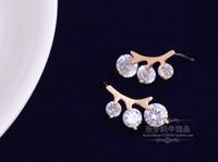 Wholesale diamond branch lady s earings cm woniu152