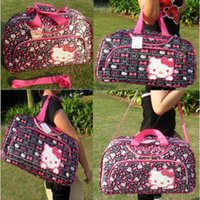 Wholesale 2015 new Travel bag luggage laptop bag One Shoulder Cross Body Bag hello Kitty bag large loading capacity