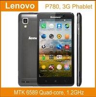Precio de Lenovo p780-Caliente !! original de <b>Lenovo P780</b> phoneMTK6589 núcleo cuádruple teléfono móvil 5.0 '' Gorilla Glass 1 GB de RAM Android 4.2 Dual SIM en varios idiomas