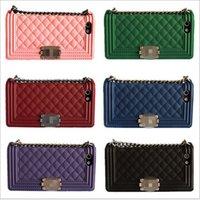 handbags paris - Handbag Metal Chain Silicon Brand Boy Case Luxury Paris CC For iPhone S S PLUS Without Retail Package