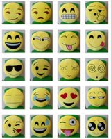 Wholesale 33cm Cushion Cute Emoji Smiley Pillows Cartoon Facial Cushion Emoji Smiley Emoticon Pillows Yellow Round Pillow Stuffed Plush Soft Toy