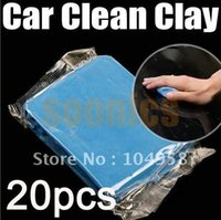 Cheap New Blue Practical Magic Car Clean Clay Bar Auto Detailing Cleaner Cleaning Kit Free Shipping 20pcs lot order<$18no track