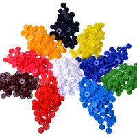 Wholesale 150 Sets of KAM Size T3 Plastic Button Fastener Snap Studs Snaps Resin Poppers Pop Fasteners colors