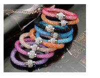 Wholesale Mesh Stardust Bracelet With Crystal Rhinestone Ball Magnetic Pulseira Bracelet Stardust For Women Bijoux Charm Braclets Bangles