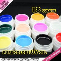 nail art supplies - X sets colors CANNI Factory Supply Bulk Package Pure Color UV Gel Nail Art UV Gel Nails Kit