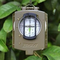 metal compass - Multifunction Military Army Metal Sighting Compass High Accuracy Waterproof Compass Green Camouflage EK1001 W2236