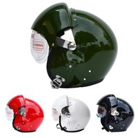 air cooled motorcycles - Cool TK Chinese Military Air Force Jet Pilot Open Face Dual Lens Motorcycle Helmet Visor SIZE L