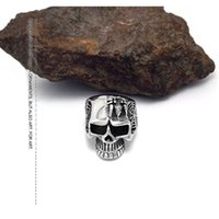 gothic jewelry - Vintage Gothic Skull Ring Unisex Fashion Jewelry L Stainless Steel Rings Punk Style Alternative creative personality spider skulls