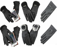 Wholesale 6 Styles EAST KNITTING New Fashion Winter Women Gloves Leather Gloves Wool Touch Screen Gloves For Mobilephone