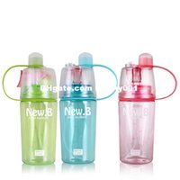 Wholesale Most Popular ml Water Bottles NEW B Transparent Cycling Bottle With Sprayer Travel Mugs Plastic Drinkware Drinking Cup Bike Kettle