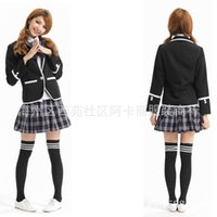 academic games - Hot Japanese Korean pleated skirt girls school uniforms uniforms suit academic arena game uniforms