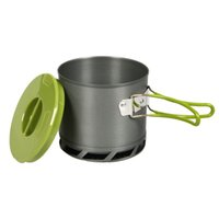 anodized cookware - 1 L Portable Outdoor Heat Collecting Exchanger Cooking Pot Anodized Aluminum Camping Cookware for People