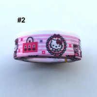 Quilt Accessories character ribbon - Cute Pink Hello Kitty Ribbon quot Yards Cartoon Character Ribbon Printed Grosgrain Ribbon M13253