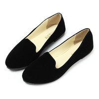 ballerina style flats - Fashion Style Suede Leather Ballerina Dolly Womens Flats Ballet Shoes Loafers Princess Shoes Outsole Comfortable