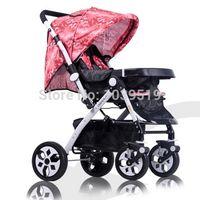 Wholesale 2015 New Folding Baby Stroller Baby Folding Pram Pushchair Comfortable outdoor and household Damping Pram years Folding Pram