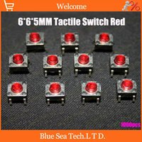 Wholesale 6 MM Tactile Switch tact switch micro touch switch Push Button Tactile Momentary for induction cooker and LCD