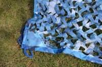 Wholesale W150D3 m Sea Blue Military Camouflage Netting decoration Ocean Blue Camo net sun shade net Huntting Net