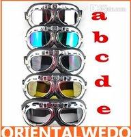 gafas de motocicleta vespa de la motocicleta del casco del crucero de Steampunk Goggle gafas al por mayor de la venta envío libre superior