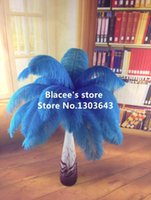 Wholesale prices turquoise blue ostrich feather for wedding decor or table decor