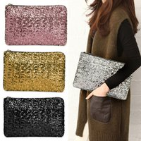 Wholesale Women Clutch Dazzling Sequins Glitter Sparkling Handbag Evening Bag Fashion KK Y