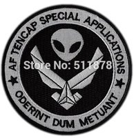 application project - 4 quot TENCAP SPECIAL APPLICATIONS AREA ALIENS BLACK OPS NRO CLASSIFIED PROJECTS Embroidered iron on patch emblem MOTIF APPLIQUE