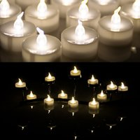 Wholesale Birthday Led Candle Battery Operated Flameless Tealight warm white Tea light Candle for Christmas wedding Valantine party home Decoration