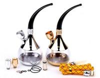 arabic shisha - Personal Arabic Shisha Hookah Cigarette Holder Vaporizer Filter Smoking Circulation Cigarette glass Water Pipe Bongs