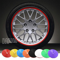 PE Black Stickers New 8 Meter Roll Car Wheel Hub Tire Sticker Car Decorative Styling Strip Wheel Rim Tire Protection Care Covers Auto Accessories