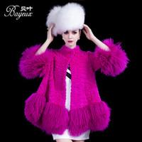 Wholesale 2014 Winter New Fashion Design rabbit fur coat half sleeve cloak fur coat Genuine Natural Rabbit Fur Coat