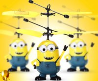 Cheap The new style Remote control suspension despicable me yellow people vehicle, intelligent induction yellow people helicopter,free shipping