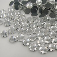 hot-fix for rhinestone - mm Clear Crystal DMC Hot Fix FlatBack Glass Rhinestones applied to dressing and nails for fashion
