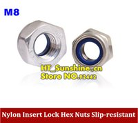 best lock nuts - Best price form china for M8 Nylon Insert Lock Hex Nuts Slip resistant M8 Self locking Nut order lt no track
