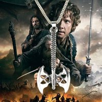 ax steel - 2016 new The Hobbit necklace Lord of the Rings jewellery Golden ax fashion stainless steel jewelry