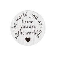 advanced world - 10pcs mm round stainless steel plate charms advanced technique flat words quot to the world you are one quot for mm glass lockets