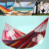 cotton fabric uk - Double Size Hammock Cotton Fabric Air Chair Hanging Swinging Outdoor Camping UK