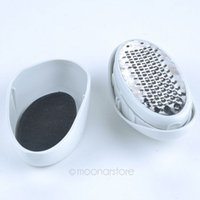 Wholesale Foot Care ABS Stainless Steel Oval Egg Shape Pedicure Foot File Callus Cuticle Remover Foot Care XMHM066