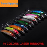 minnow baits wholesale fishing tackle - 20pcs Quality Laser Minnow Fishing Lures Rapala style Hard Bait CM G Fishing Tackle isca artificial Swimbait Minnow Bass Saltwater